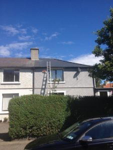 3 sides of new roof fromgable end house